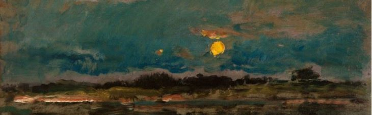 Daubigny - Landscape by Moonlight